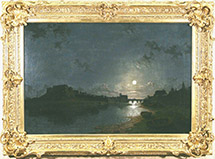 Chester Castel by Moonlight by Henry Pether